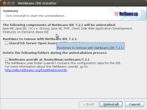 uninstall netbeans ubuntu